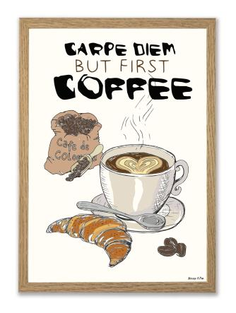 Coffee/Cape Diem A4 plakat