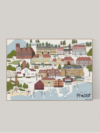 A4-Map of Præstø (By Poster)