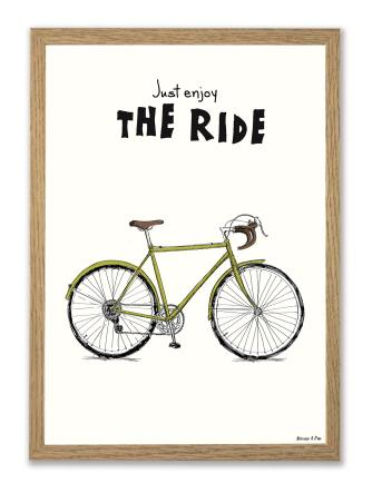 Retro bike A4 plakat