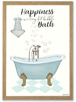 Hot bath 50 x 70 plakat