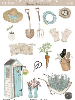 Stickers sheets - Garden love