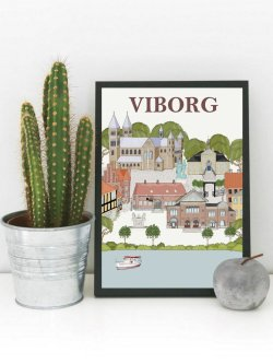 Viborg byposter A4