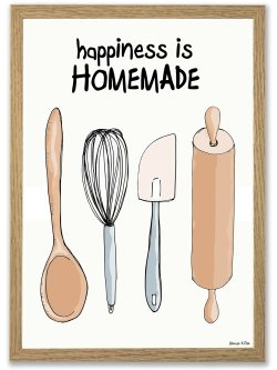 Happiness is Homemade A4 poster