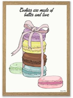 French Cookies A4 plakat