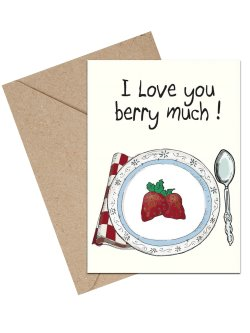 I Love You Berry Much A6 kort