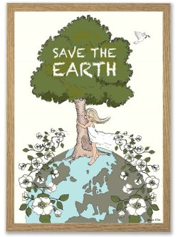 Save the Earth A4 plakat