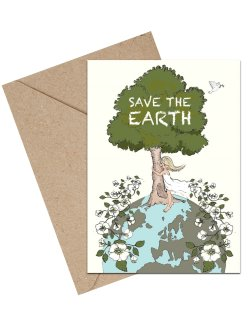 Save The Earth A6 kort