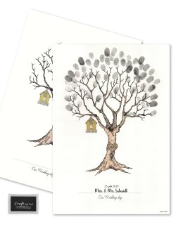 Wedding Tree - Fingerprint Black