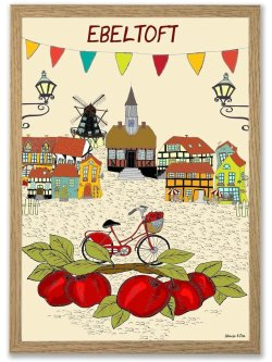 Ebeltoft By plakat A3