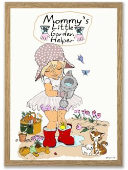 Mommy's little garden helper A4 plakat