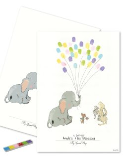 Baby Fingerprint - Elephant Balloon MULTICOLOR