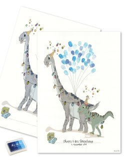 Fingerprint - Dino party blue