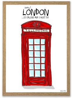 Sorry, London Is Calling A4 plakat
