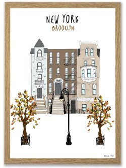 New York, Brooklyn A4 plakat