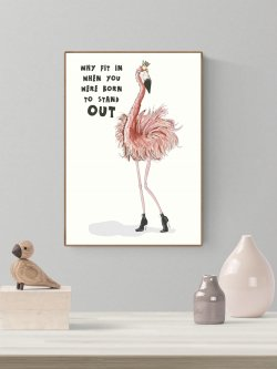 A3-Flamingo - Born to stand out
