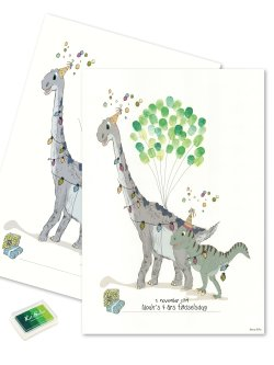 Fingerprint - Dino party Green