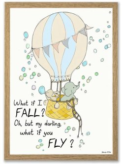 What if I fall 50 x 70 plakat