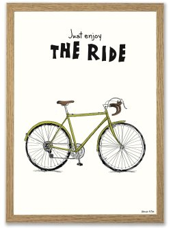 Retro bike A3 plakat