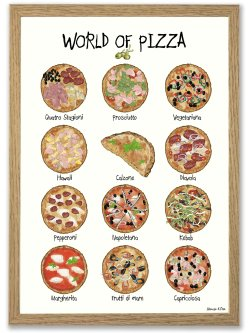 World of Pizza A4 plakat
